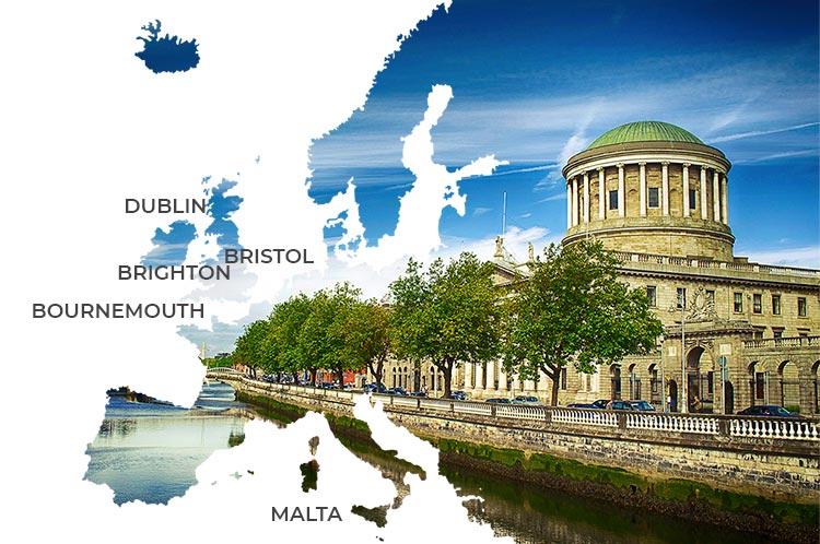Estancias lingüísticas en ciudades de habla inglesa en Europa